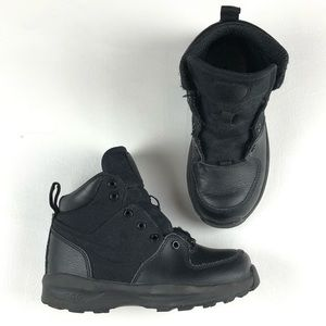 Nike Manoa Leather Textile Boys Black ACG Boots Youth Kids Shoes 613547-001